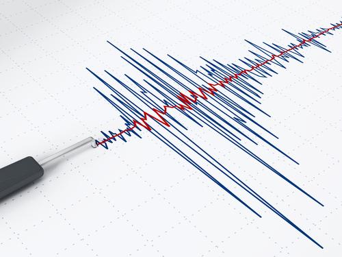 地震の揺れを示す